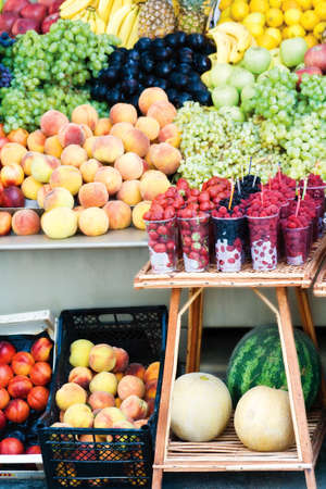 Vaus colorful fruits at the market Stock Photo - 3842426