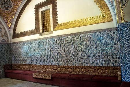topkapi: Interior view from Topkapi palace, Istanbul, Turkey