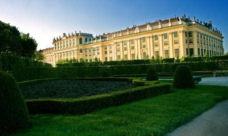 schonbrunn palace: Schonbrunn palace - famous landmark in Vienna, Austria