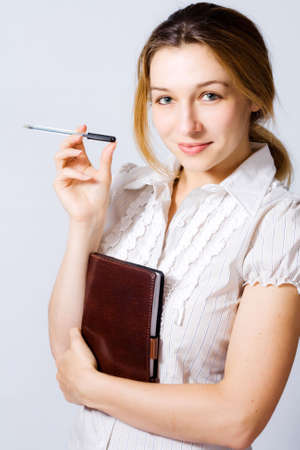 Portrait of confident young businesswoman photo