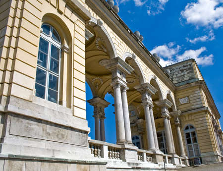 the gloriette: Gloriette building at Schonbrunn Palace, Vienna Stock Photo