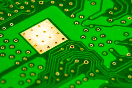 Macro view of computer green electronic board Stock Photo - 4166333