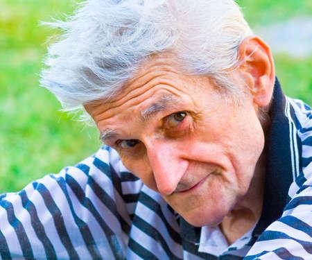 Senior man with wisdom smile on his face Stock Photo - 4225556