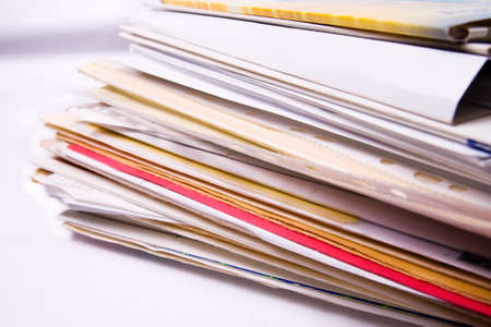 Stack of messy document office folders Stock Photo - 4509590