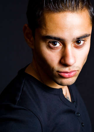 Portrait of one hispanic handsome young man Stock Photo - 4540061
