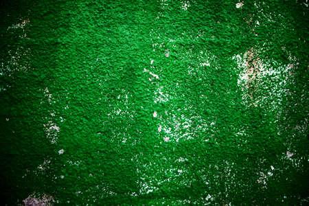 muro rotto: Texture di sfondo verde grezzi rotto muro Archivio Fotografico