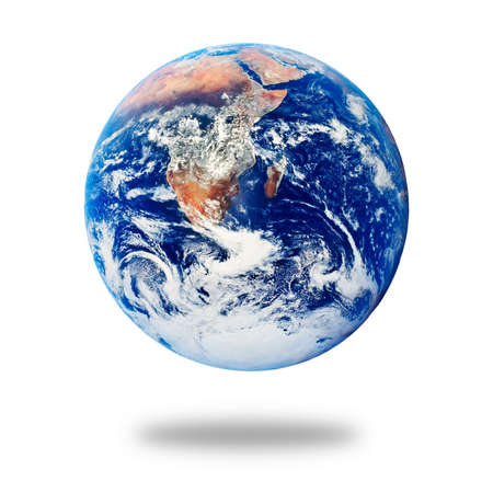 terra: Planet Earth isolated on white background Stock Photo