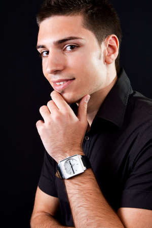 Portrait of pensive handsome young man Stock Photo - 4872246