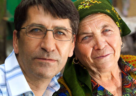 Family portrait - son and grandmother Stock Photo - 5107808
