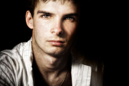 One handsome masculine male with nice eyes photo