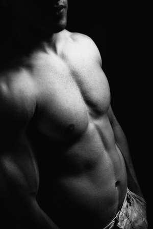 nackte brust: Muskul�s Torso Mann mit sexy K�rper Lizenzfreie Bilder