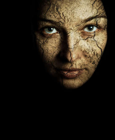 Face of woman with cracked dried skin Stock Photo - 5581080