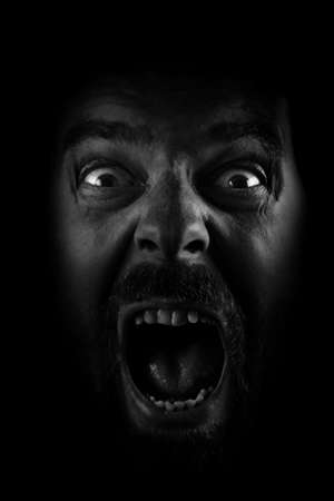 Scream of spooky scared mad man Stock Photo - 5581081