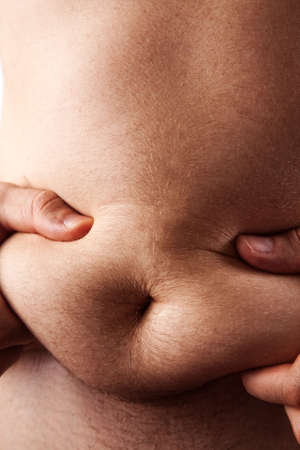belly fat: Fat on male belly