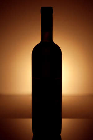 Wine bottle silhouette photo