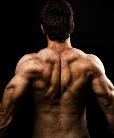 big behind: Man with muscular back Stock Photo