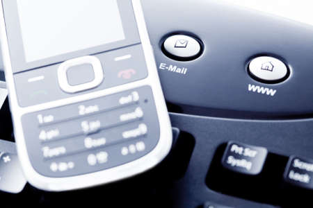 Communication concept - mobile phone internet and e-mail photo