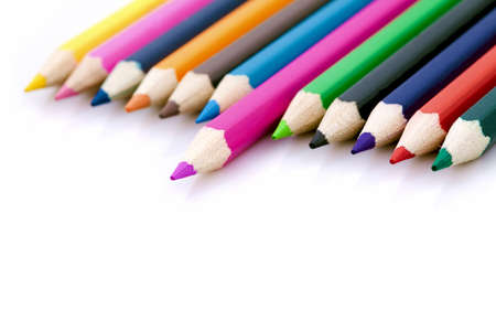 individualism: Winner or success metaphor with colorful pencils