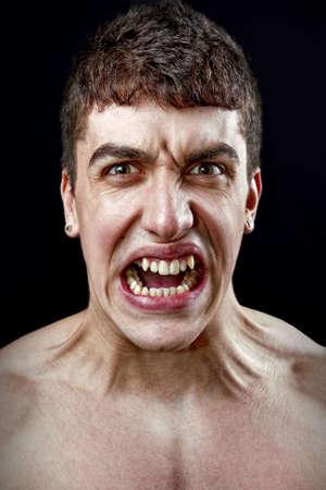 Concepto de estr�s - enojado furioso un hombre loco Foto de archivo - 6604528