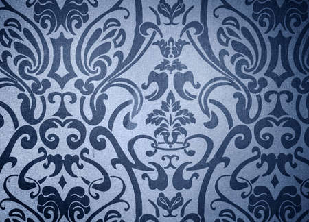 Floral blue background with tribal abstract art Stock Photo - 6668811