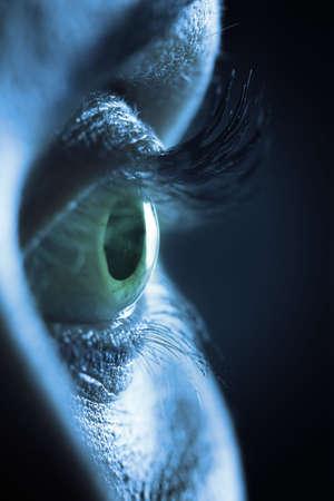 Extreme close up on human female eye
