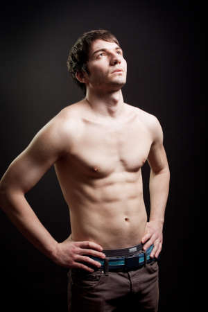 Man with sexy body and muscular abs Stock Photo - 7018484