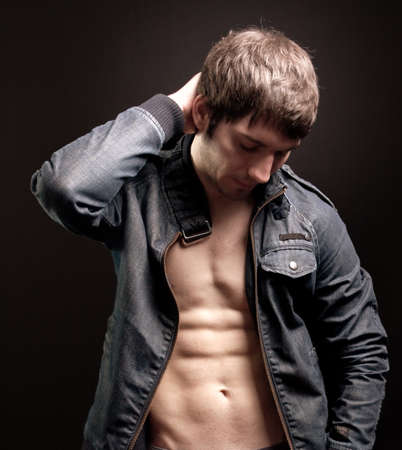 Sexy fit young man with muscular abs Stock Photo - 7018477