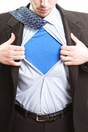 Superman business concept - super hero business man photo