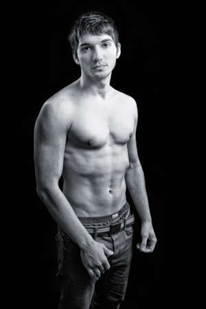 Sexy shirtless guy with masculine athletic body Stock Photo - 7342623