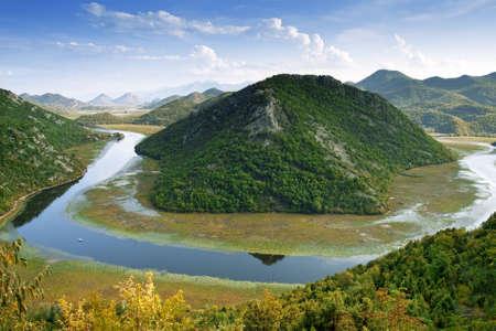 Beautiful view of Skadar Lake from Montenegro