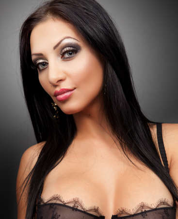 hot breast: Hot sexy woman with attractive cleavage Stock Photo