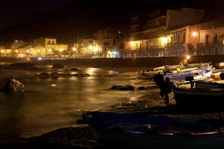 naxos: Sicilia - Giardini Naxos town view at night