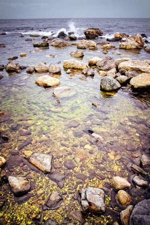 Seascape - sea waves and rocks Stock Photo - 12620617