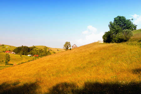 Rural countryside landscape from Romania Stock Photo - 13074092