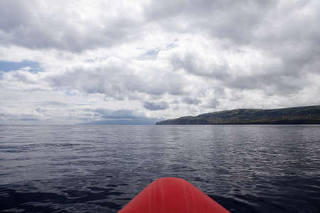 Atlantic Ocean and cloudy sky in Azores - view from sail boat Stock Photo - 13074108