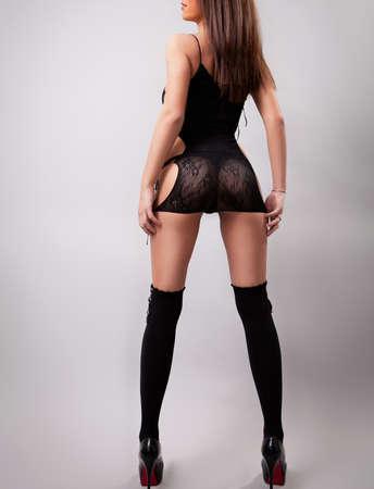 Frau mit sexy Hintern und lange Beine