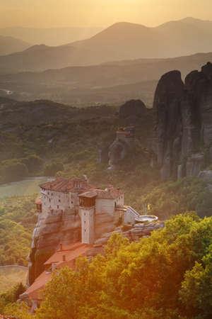kalampaka: Monastery at Meteora - religios landmark in Greece