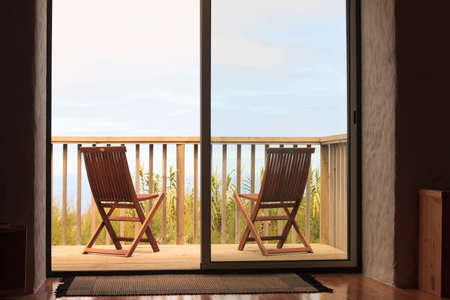 holiday villa: Two chairs on holiday villa terrace