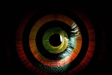 Human eye – abstract vision concept