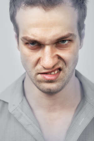 scary man: Face of evil angry scary man