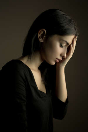 Sadness concept – depressed teen girl
