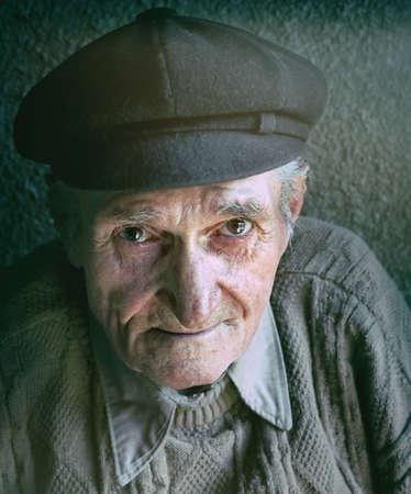 Portrait of friendly senior man photo