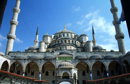 religious building: Blue mosque in Istanbul Turkey