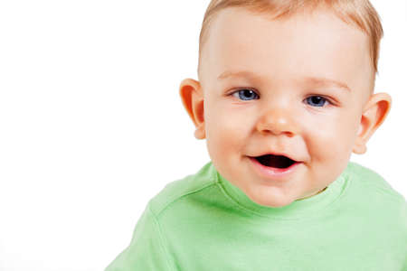 funny boy: Portrait of funny cute baby boy Stock Photo