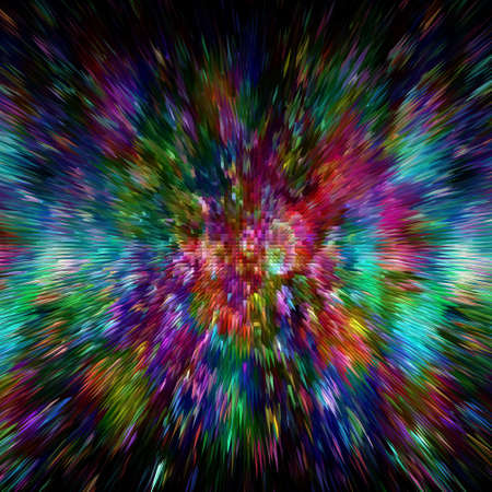 Color burst abstract colorful background Stock Photo