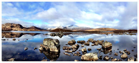 black moor: A shot of black mount from rannoch moor Stock Photo
