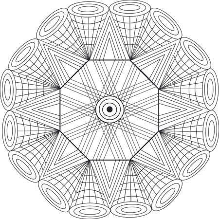 Diseño Geométrico De La Mandala Con Efectos Visuales Y Patrones ...