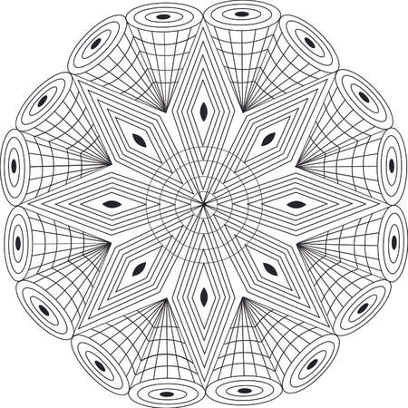 patter: Mandala geometric design with patter for coloring
