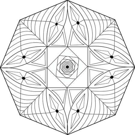 mandala: Mandala geometric design art