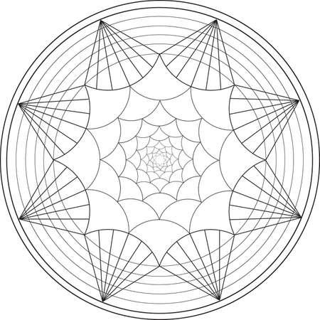 Mandala De Ilustración Para Libros Para Colorear Con Los Patrones ...